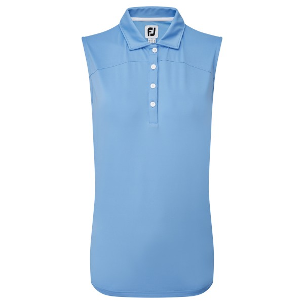 Footjoy Mesh Back Solid Sleeveless Polo Damen blau