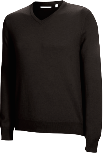 Ashworth Merino Long Sleeved V-Neck Sweater schwarz