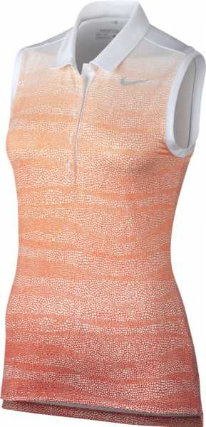 Nike Women's Precision Zebra Fade Sleeveless Golf Polo orange