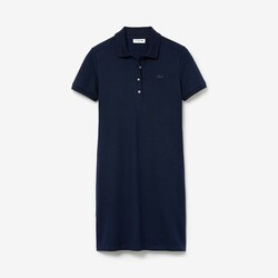 Lacoste Stretch-Baumwoll-Piqué Kleid Damen
