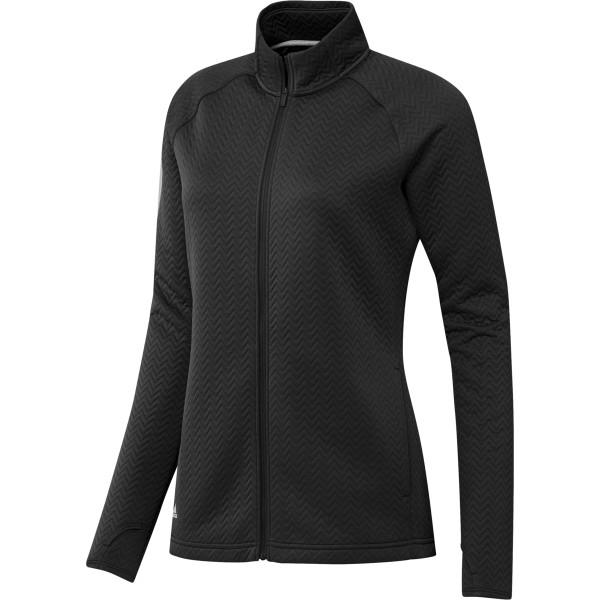 adidas Texture Full-Zip Pullover Damen schwarz