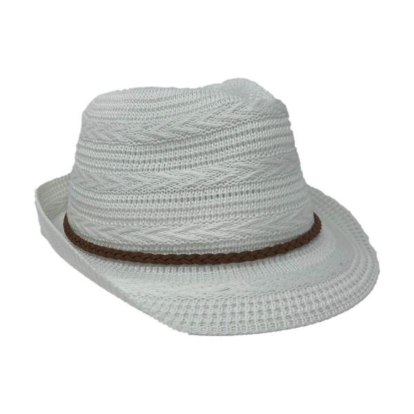 ER Stoff Hut Damen weiß