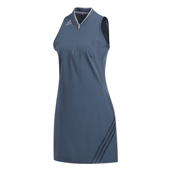 adidas 3Stripe Sleevless Kleid Damen blau