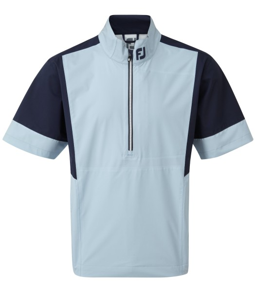 Footjoy HLv2 Shorts Sleeve Regenjacke Herren hellblau/navy