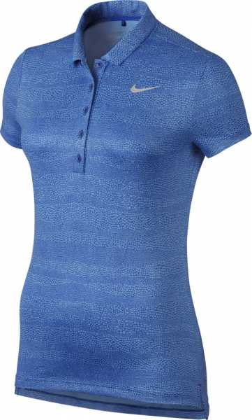 Nike Women's Precision Zebra Print Golf Polo blau