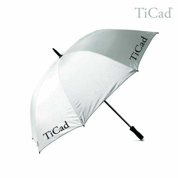"""TiCad Regenschirm mit TiCad-Logo """"Auslauf"""" silber"""