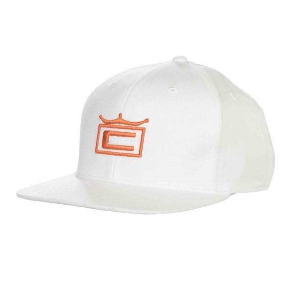 Cobra CROWN Cap Junior weiß/orange