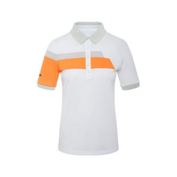 Colmar Solid Polo Damen weiß/orange