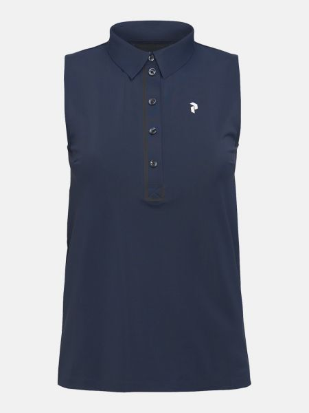 Peak Performance TRINITY sleeveless Polo Damen navy