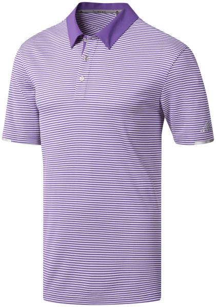 adidas Climachill Tonal Stripe Polo Herren lila weiß