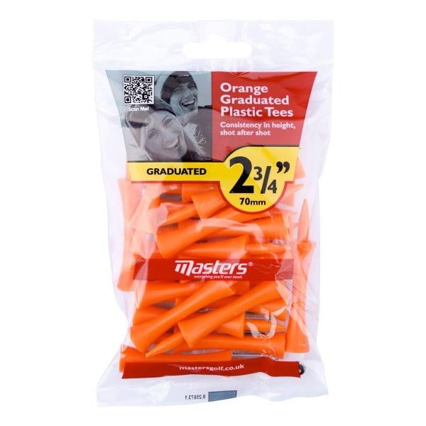 """Masters Plastic Graduated Tees 25 Stück - 2 3/4"""""""