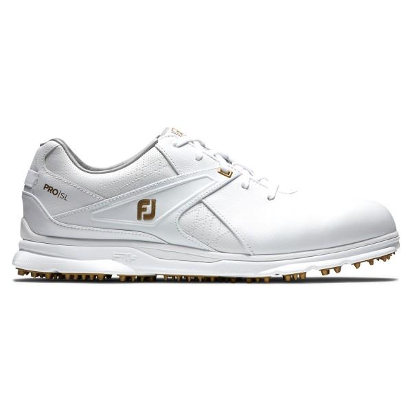 Footjoy PRO SL Golfschuh Herren weiß/gold Sondermodell