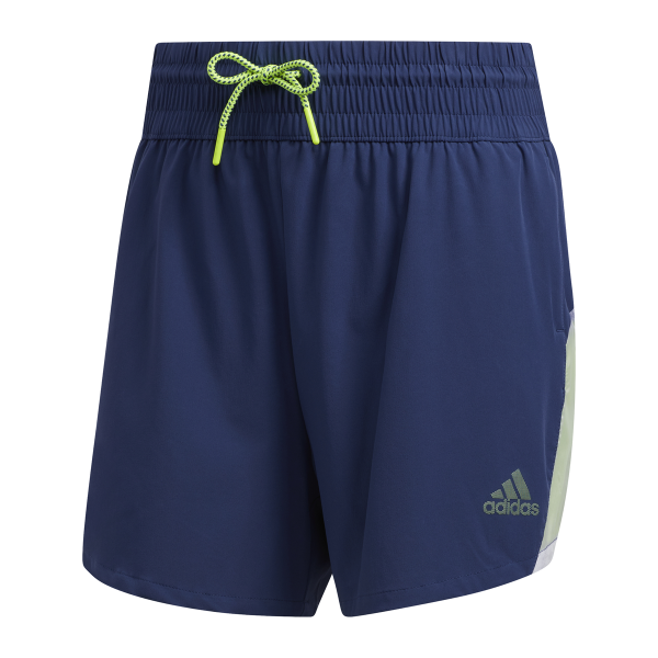 adidas Pull-On Color Block Shorts Damen blau