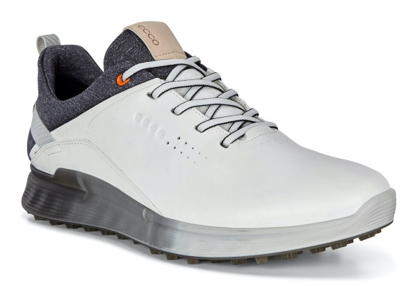 Ecco Golf S-Three Golfschuh Herren weiß/hellgrau