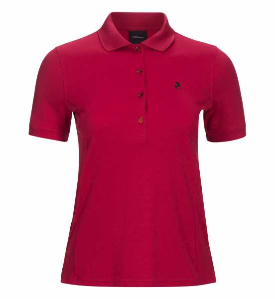 Peak Performance CHUTE Polo Damen weinrot