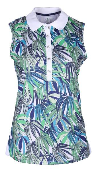 Girls Golf Exotic Jungle sleeveless Polo Damen grün