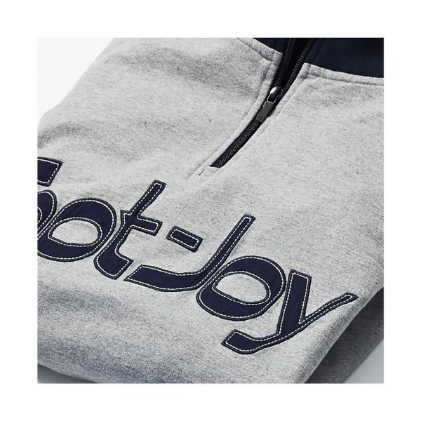 Footjoy Heritage 1/4 Zip Pullover Herren grau/nvay
