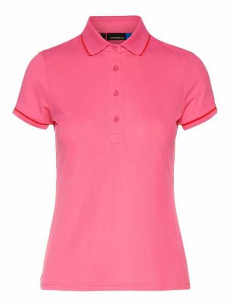 J. Lindeberg Leana Lux Pique Polo Shirt Damen pink