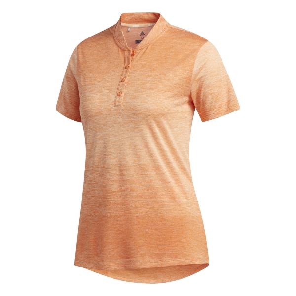 adidas Gradient Shorts Sleeve Polo Damen orange