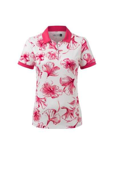 KJUS Enya Printed Polo S/S Damen weiß/pink