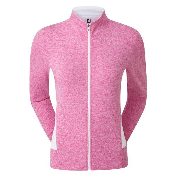 Footjoy Full-Zip Knit Mid-Layer Pullover Damen rosa