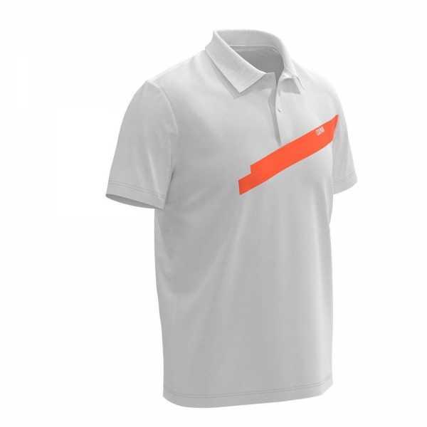 Colmar Solid Color Polo Herren grau/orange