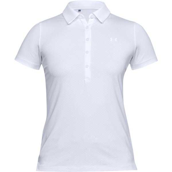 Under Armour Zinger SS Novelty Polo Damen weiß