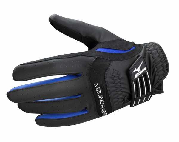 Mizuno Rainfit Damen Golfhandschuh / schwarz / blau / weiß