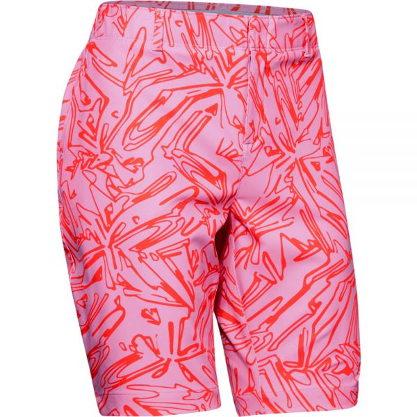 Under Armour Links Printed Short Damen pink