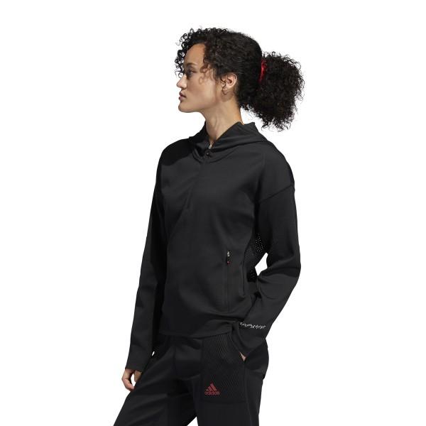 adidas Primeknit Half-Zip Pullover Damen schwarz