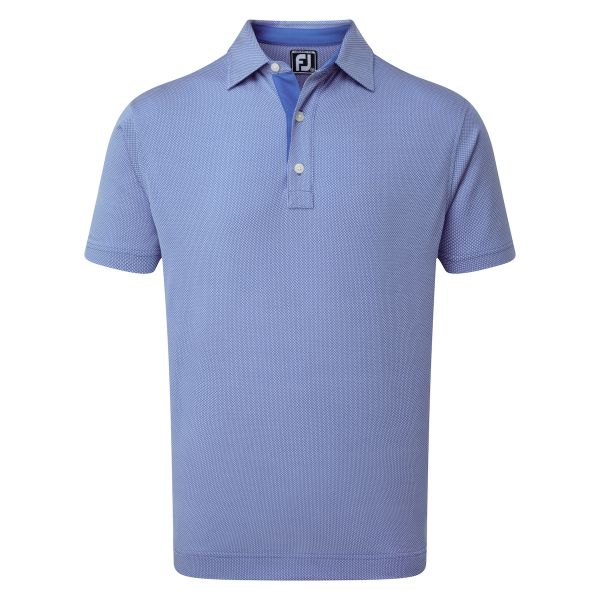 Footjoy Four Dot Jacquard Polo Herren blau