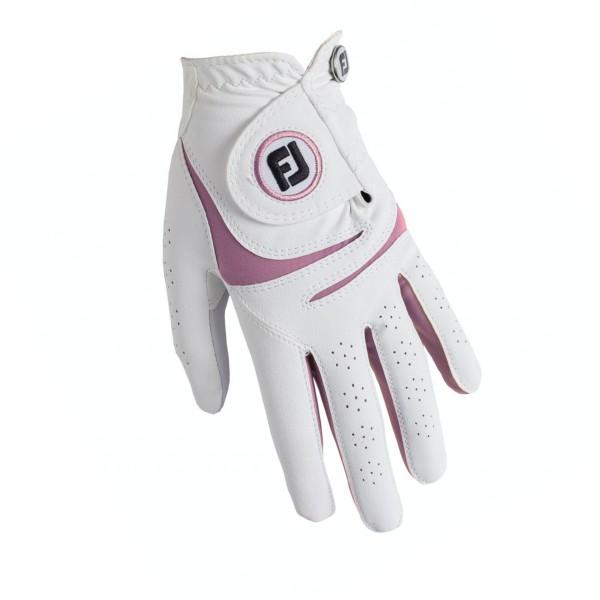 Footjoy Weathersof Handschuh Damen weiß/pink
