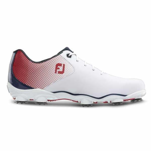 Footjoy D.N.A Helix Schuh Herren weiß/rot/blau