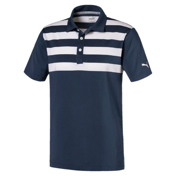 Puma Pars and Stripes Polo Herren blau