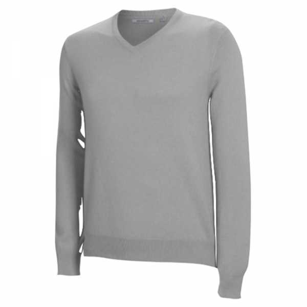 Ashworth Merino Long Sleeved V-Neck Sweater grau