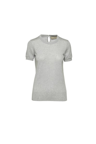 Spoon Lurex Twist Shirt Damen grau
