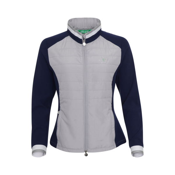 Girls Golf Outdoor Jacke Damen navy/grau