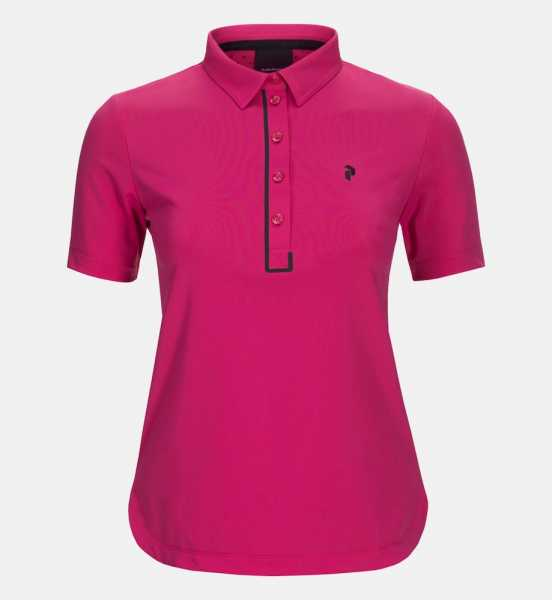 Peak Performance TRINITY Polo Damen pink