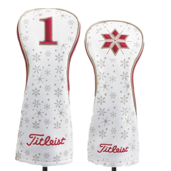 """Titleist Holiday Headcover """"Limited Edition"""" weiß/rot/silber"""