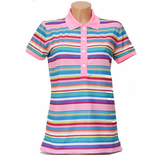 Alberto LYNN Dry Comfort Polo Damen magenta