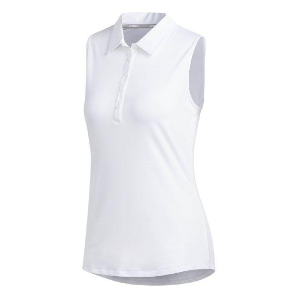 adidas Microdot Sleeveless Polo Damen weiß