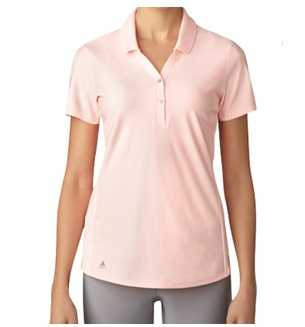Adidas Essential Jacquard Golf Polo Damen lachs