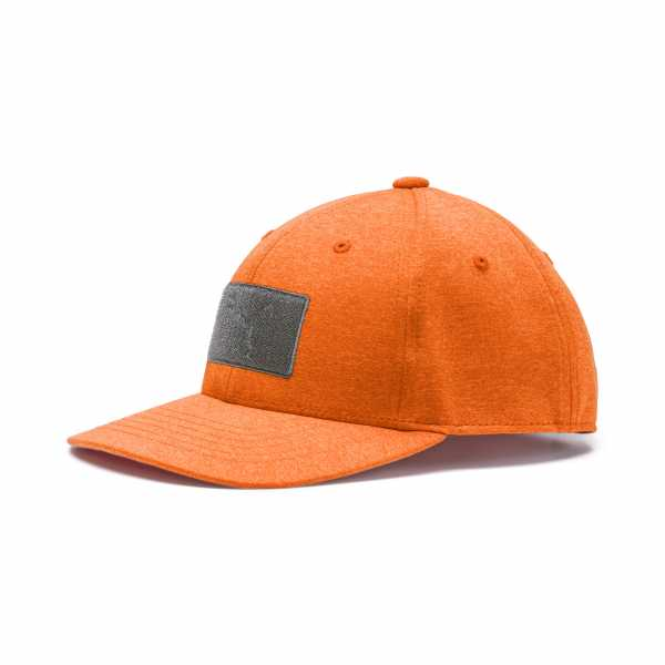 Puma Youth Utility Patch Snapback Cap orange
