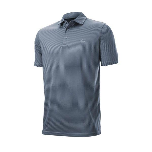Wilson Staff Stripe Polo Herren blau