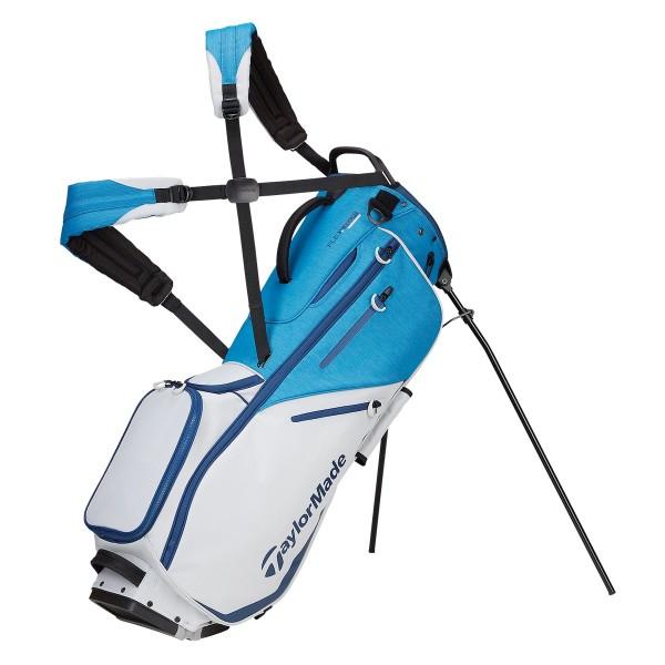 TaylorMade Flextech Standbag  weiß/blau