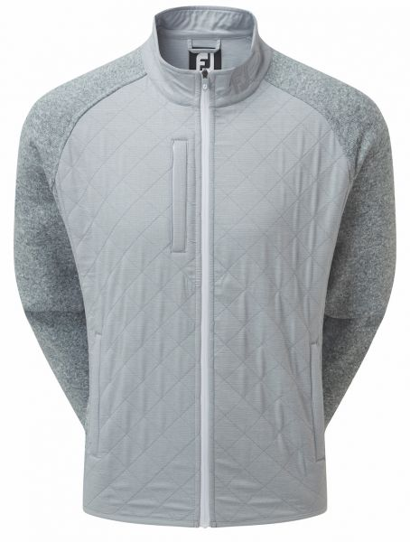 Footjoy Fleece Quilted Jacke Herren hellgrau
