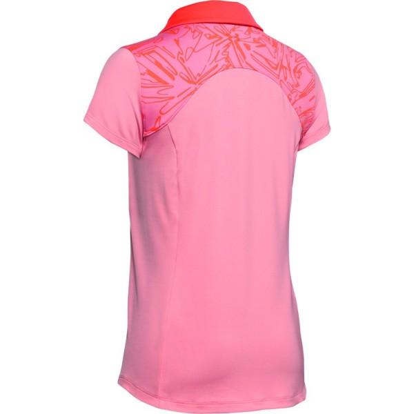 Under Armour Zinger shortsleeve Polo Damen pink