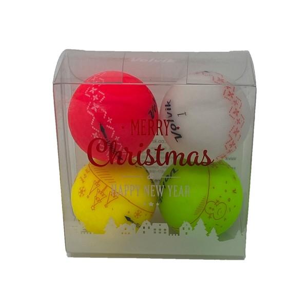 """Volvik ViVID Weihnachten Special Edition 4er Geschenkbox """"limitierte Auflage"""""""