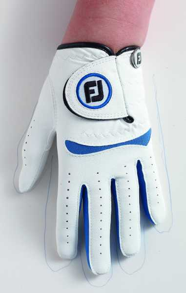 Footjoy Junior Handschuh weiß/blau