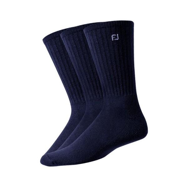 Footjoy Comfortsof Crew Socken Herren 3er Pack navy